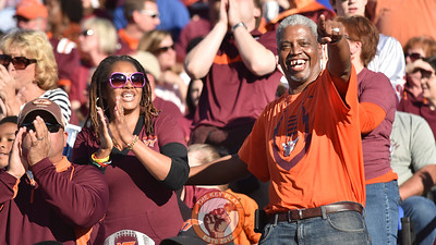Virginia Tech Hokies fans celebrate the Beamerball moment. (Michael Shroyer/TheKeyPlay.com)