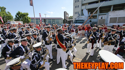 The Highty Tighties perform for tailgaters in front of Lane Stadium as the Hokies make their way to Blacksburg before the game. (Mark Umansky/TheKeyPlay.com)