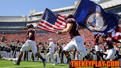 The Hokies take the field for the first time in the 2016 season. (Mark Umansky/TheKeyPlay.com)