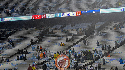 Few North Carolina fans remained to see the game to it's conclusion. (Michael Shroyer/ TheKeyPlay.com)
