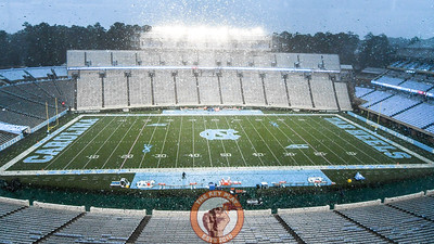 A view from inside the Kenan Stadium press box prior to the game between the Virginia Tech Hokies and North Carolina Tar Heels. (Michael Shroyer/ TheKeyPlay.com)