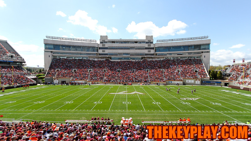 More than 44000 fans showed up for this year's spring game at Lane Stadium. (Mark Umansky/TheKeyPlay.com)