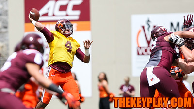 QB Jerod Evans winds up a throw in the first quarter. (Mark Umansky/TheKeyPlay.com)