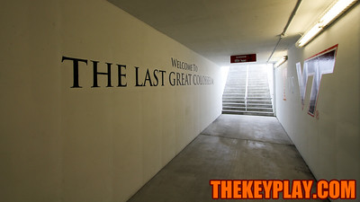 Bristol Motor Speedway was turned into a football stadium 19 days after hosting a NASCAR race. (Mark Umansky/TheKeyPlay.com)