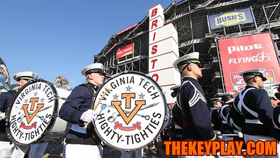 The Highty Tighties march at the front of the Hokie Walk to the stadium. (Mark Umansky/TheKeyPlay.com)