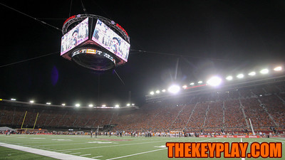 Colossus hangs above the field as the game gets underway inside Bristol Motor Speedway. (Mark Umansky/TheKeyPlay.com)