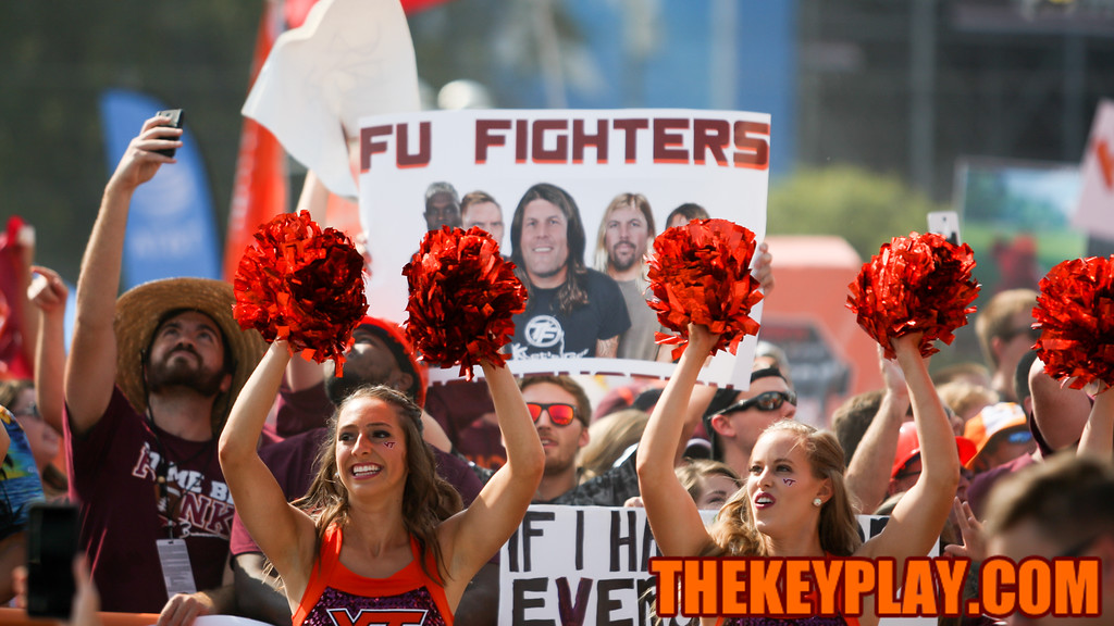 Virginia Tech fans showed up in force to ESPN's College Gameday preview show. (Mark Umansky/TheKeyPlay.com)