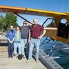 """Lauren, Jeanette, pilot, Bob boarding DeHaviland """"Beaver"""" at Chelan"""