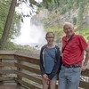 Lauren and Bob at Snoqualmie Falls