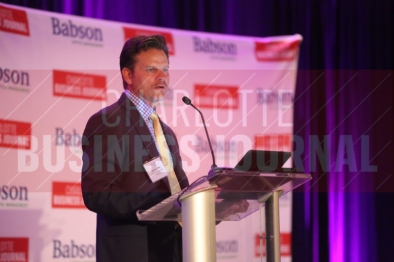 CBJ Pusblisher Kevin Pitts introduces the Women in Business awards.