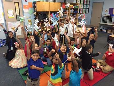 2016 - Woodview Elementary Pinwheels for Peace