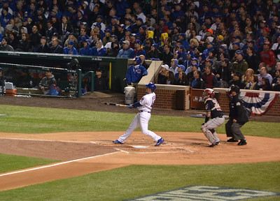Rizzo hits a very long foul ball.