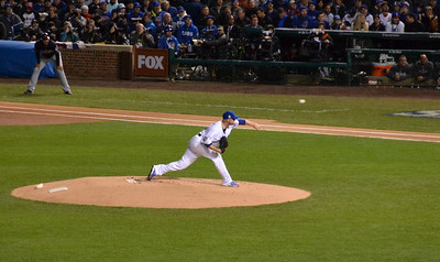 Jon Lester's first pitch of Game 5.