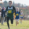 Oakmont's Derek Burrowes comes in 13th overall in the Boys Div II Cross Country Districts at Gardner Municipal Golf Course. SENTINEL & ENTERPRISE / Jim Marabello