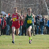 Nashoba's Kyle Cloutier (681) loses out in a kick down the stretch to St John's Ben Kovacs (760) at the end of the MIAA Div I Boys Cross Country Districts held at Gardner Municipal Golf Course. SENTINEL & ENTERPRISE / JIm Marabello