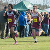 Fitchburg Crtoss Country teammates  Dohnavan LeBlanc (left) and Travis Morcaldi come down the final few hundred yards together at the Div I Boys Cross Country Districts held at Gardner Municipal Golf Course. SENTINEL & ENTERPRISE / JIm Marabello