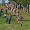The Div I Girls negotiate part of the course during the early stages of the MIAA Cross Country Districts held at at the Gardner Municipal Golf Course. SENTINEL & ENTERPRISE / JIm Marabello