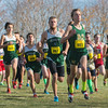 Nashoba's Kyle Cloutier (681) leads a pack in the erarly stages of the MIAAS Div I Boys Cross Country Districts held at Gardner Municipal Golf Course. SENTINEL & ENTERPRISE / JIm Marabello