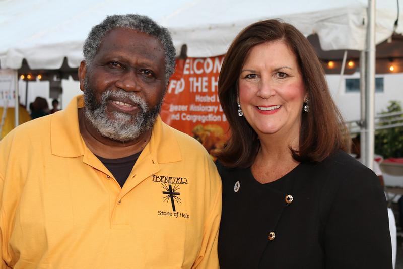 IMG_4659 Rev  Howard Spain and Mayor Susan Haynie