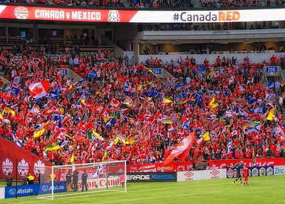 "Mexico Canada ""Futbol"" game"
