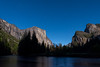 Gates of the Valley, with Ribbon Fall to the left, Bridalveil Fall to the right, and El Capitan reigning over the center
