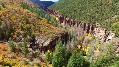 6-Manti LaSal mountain Fall foliage in river canyon