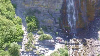 4-Hikers at base of main falls