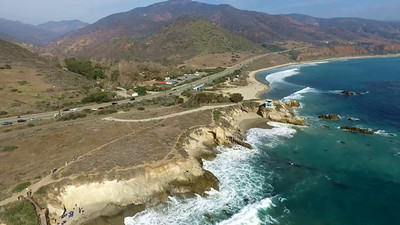 2-Drones above Leo Carillo Beach