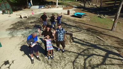 Family droning in Los Angeles