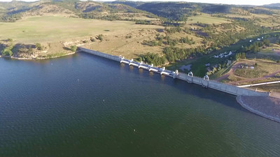 2-Flying over Angostura Dam