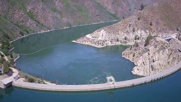 14-Outflow seen from above Arrow Rock Dam