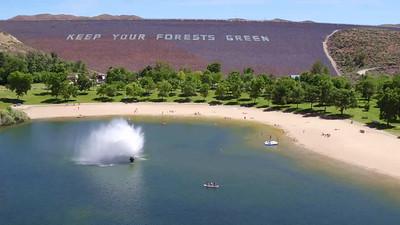 The fountain, beach and lake-Lucky Peak