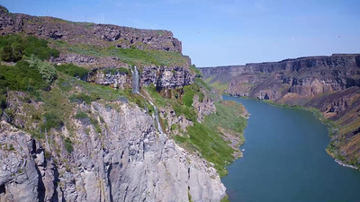 4-Unnamed Falls across the Snake River from Shoshone Falls