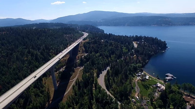 Veterans Memorial Bridge and Lake Coeur d'Alene, Idaho