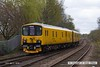 160418-011     Network Rail's unique track recording unit, class 950 no 950001, seen leaving Mansfield Woodhouse with 2Q08, 11.45 Chesterfield to Derby R.T.C., via Nottingham and the Robin Hood Line, as far as Mansfield Woodhouse.
