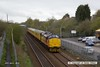 160425-001     Network Rail test train 1Q05, 08.34 Derby R.T.C. to Derby R.T.C. passes Tenter Lane, Mansfield, powered by Colas Rail class 37's no's 37175 & 37421, in 'top & tail' mode.