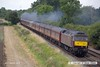 160828-007     LMS 'Princess' 4-6-2 no 6201 Princess Elizabeth speeds past Deblenfield bridge, Barrow upon Trent, powering railtour 1Z16, 09.07 London King's Cross to Matlock, Peak Rail. West Coast Railway Company class 47 no 47746 was at the rear. The tour was routed via Grantham, Nottingham, Castle Donington and Stenson Junction, where it reversed and ran to Derby with 47746 leading. The Princess was taken off at Derby with 47746 taking the train through to it's destination.