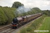 160828-004     LMS 'Princess' 4-6-2 no 6201 Princess Elizabeth speeds past Deblenfield bridge, Barrow upon Trent, powering railtour 1Z16, 09.07 London King's Cross to Matlock, Peak Rail. West Coast Railway Company class 47 no 47746 was at the rear. The tour was routed via Grantham, Nottingham, Castle Donington and Stenson Junction, where it reversed and ran to Derby with 47746 leading. The Princess was taken off at Derby with 47746 taking the train through to it's destination.