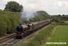 160828-002     LMS 'Princess' 4-6-2 no 6201 Princess Elizabeth speeds past Deblenfield bridge, Barrow upon Trent, powering railtour 1Z16, 09.07 London King's Cross to Matlock, Peak Rail. West Coast Railway Company class 47 no 47746 was at the rear. The tour was routed via Grantham, Nottingham, Castle Donington and Stenson Junction, where it reversed and ran to Derby with 47746 leading. The Princess was taken off at Derby with 47746 taking the train through to it's destination.