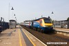 160507-007     A East Midlands Trains HST is seen arriving at Mansfield, a very rare visitor to the Robin Hood Line, captured on the 7th May 2016 with UK Railtours charter 'The Midland and Great Central'. Class 43, HST power car no 43050 leads the charter into the station for a booked crew change, at the rear is 43059.