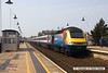 160507-006     A East Midlands Trains HST is seen arriving at Mansfield, a very rare visitor to the Robin Hood Line, captured on the 7th May 2016 with UK Railtours charter 'The Midland and Great Central'. Class 43, HST power car no 43050 leads the charter into the station for a booked crew change, at the rear is 43059.