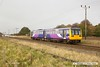 161110-028  Northern class 142 unit no 142023 passes Rushey Sidings with 2P65, the 10.19 Scunthorpe to Lincoln.