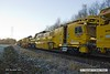 161129-021  DR 76504, Plasser & Theurer RM 900 RT Ballast Cleaner during commissioning trials at Boughton Junction.