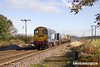161110-009  In top and tail mode, DRS class 20s 20303 Max Joule 1958-1999 and 20312 are captured on Thursday 10th November 2016, passing Rushey Sidings near Retford, powering RHTT 3S13, 09.31 Sheffield to Stocksbridge Works.
