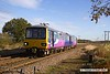 161110-014  Northern class 144 unit no 144003 passes Rushey Sidings, Retford with 2R13, the 10.25 Lincoln to Adwick.