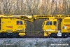 161129-001   Cabs of Plasser & Theurer New Ballast Power Wagon no DR 92477 and Plasser & Theurer RM 900 RT Ballast Cleaner no DR 76504. Seen at Boughton Junction on the High Marnham Test Track.