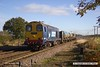 161110-011  In top and tail mode, DRS class 20s 20303 Max Joule 1958-1999 and 20312 are captured on Thursday 10th November 2016, passing Rushey Sidings near Retford, powering RHTT 3S13, 09.31 Sheffield to Stocksbridge Works.