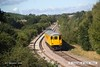 160908-007  Colas Rail Freight class 37/4 no 37421 is seen approaching Boughton Junction on the High Marnham Test Track, at the rear of test train 3Q18, 08.06 Derby RTC - Derby RTC, led by DBSO no 9703. It is captured passing some dummy third rail that has been installed in connection with commissioning of a new HOBC set that is due to arrive on the test track in the near future.