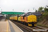 160908-003  Colas Rail Freight class 37/4 no 37421 is seen heading to Worksop as it passes through Mansfield Woodhouse on the Robin Hood Line, powering test train 3Q18, 08.06 Derby R.T.C. - Derby R.T.C. DBSO no 9703 was at the rear.