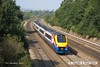 160914-017  East Midlands Trains class 222 Meridian unit no 222018 speeds past Hasland, with 1C52, the 13.49 Sheffield to London St Pancras.